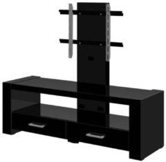 Hubertus Meble Tv-meubel Monaco van 138 cm breed in hoogglans zwart