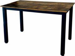 Bruine VDD Industrial Vintage Design Keukentafel - bureau - computertafel - industrieel vintage stijl - 115 cm