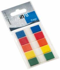 Info Notes Info flags 12,5x43mm assorti - blister à 5 kleuren transp.