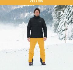 Cortazu Mountain Shell Broek Geel | Heren warme outdoor wintersport broek waterdicht & winddicht.
