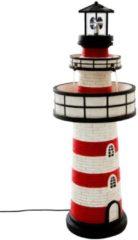 MiaVILLA LED-Brunnen Leuchtturm, Polyresin;Metall