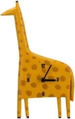 Cosy&Trendy Uurwerk Giraffe Geel 17,8x4,1xh29,7cm Polyresin