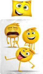 Gele Emoji Kinder Dekbedovertrek 140x200 100% Katoen