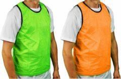 Precision Trainingshesje Bib Polyester Groen/oranje 10-14 Jaar