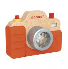 Janod houten speelgoedcamera met geluid en flits