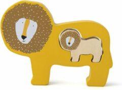 Gele Trixie houten babypuzzel   Mr. Lion   Baby puzzle   Speelgoed