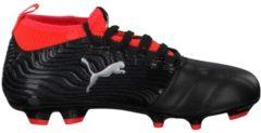 Fußballschuhe One 18.3 FG Jr 104539-01 mit Nockenprofil Puma Puma Black-Puma Silver-Red Blast