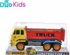 Rode Duo Kids - Vrachtwagen Laadwagen kiepwagen - Met pull & back-functie - Voertuig - Autotruck 26 cm