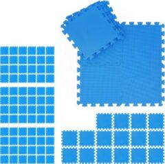 Blauwe Relaxdays 96 x fitness matten - schuimstof - beschermmat - sportmat - puzzelmat - vloermat