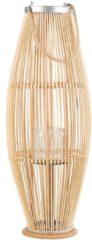 Beliani TAHITI - Lantaarn - Lichte houtkleur - Bamboohout