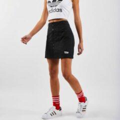Zwarte Adidas Gewatteerde minirok met logo