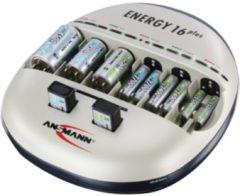 Ansmann Energy Ansmann 16+ Batterieladegerät für innen Schwarz - Silber 1001-0004