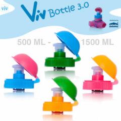 Zielonka Draaidop met afsluitbare trektuit voor 500 tot 1500 ml Viv Bottle 3.0 - Reserveonderdeel Blauw