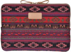 Paarse Lisen – Laptop Sleeve tot 15 inch – Bohemian Style – Rood/Paars