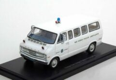 "Witte Dodge Sportsman 1973 ""San Diego Police Ambulance"" White 1-43 Neo Scale Models"