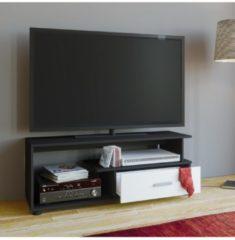 TV-Lowboard Rack Konsole Fernsehtisch Möbel TV Bank Tisch Holz Schrank 'Rimini' VCM Schwarz / Weiß