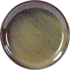 Groene Kaitø KAITØ Coupe bord diam. 19cm 'Forest Green' Stoneware - 6 stuks