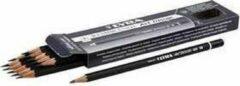 Arp design Art Design tekenpotloden, d: 6,9 mm, vulling: 1,8 mm, , Hardheid 5B , 12stuks