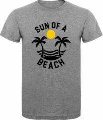 Grijze ByKemme T-Shirt - Casual T-Shirt - Fun T-Shirt - Fun Tekst - Zon - Zee- Strand - Sport Grey - Sun Of A Beach - S