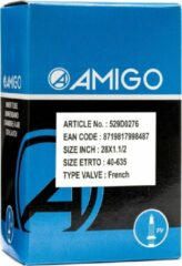 Zwarte AMIGO Binnenband 28 x 1 1/2 (40 635) FV 48 mm
