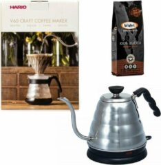 Hario V60 slow coffee kit + Hario V60 Buono Elektrische Waterketel + Bristot Diamante 100% Arabica gemalen koffie