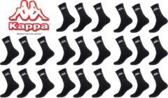 Kappa zwarte sport sokken mega multipack 12 paar maat 39/42