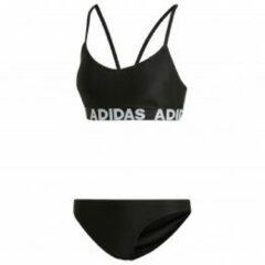 Witte Adidas Performance bikini met merknaam zwart