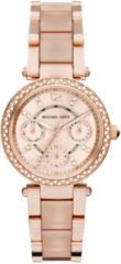Michael Kors MK6110 Horloge Parker staal rosekleurig 33 mm