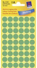 Avery-Zweckform 3143 Etiketten à 12 mm Papier Groen 270 stuk(s) Permanent Etiketten voor markeringspunten