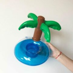 Assortimarkt.nl Opblaasbare Palmboom voor in zwembad en stand speelgoed glas / blikhouder opblaasbaar speelgoed voor in water
