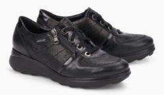 Mephisto JILL nubuck lederen dames sneakers zwart - Maat 37