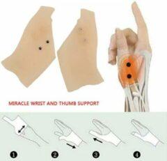Beige LOUZIR 2 Stuks Artrose Handschoenen - Hand Reuma - Handklachten - Artrose Brace - Duimbrance Artrose - Hand Ondersteuning - Handklachten - Duim Handschoen - Reuma Handschoen - Artritis Handschoen - Hand Artrose - Artrose Pijnverlichting