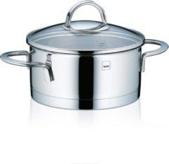 Zilveren Kookpan laag 16 cm - RVS - Kela | Cailin