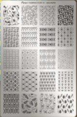 Moyra Nail Art Stamping Plate 35 - WallPaper