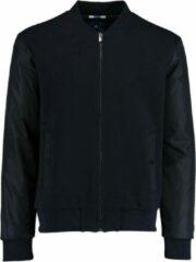 Blauwe Bos Bright Blue Steff sweat vest nylon sleeve 21112st03sb/290 navy