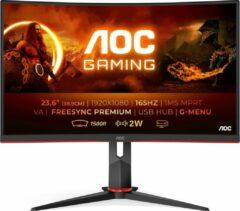 AOC C24G2U/BK computer monitor 59,9 cm (23.6 ) 1920 x 1080 Pixels Full HD LED Zwart, Rood