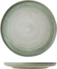 Beige Cosy&Trendy Destino Plat Bord - Ø25 cm - Light groen - 4 stuks