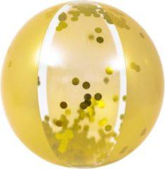Orange85 Strandbal - Opblaasbaar - Bal - Goud - Glitter - 50 cm - Strand