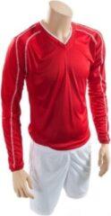 Precision voetbalshirt en broek marseille unisex rood wit