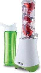 Russell Hobbs 21350-56. 2 vaatwasmachine bestendige plastic containers incl. Deksel (inhoud 600 ml) met drinkopening 300W Groen, Wit blender