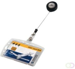 DURABLE Beveiligingspashouder met afrolsysteem Security Transparant Kunststof 8 5 x 5 4 cm 10 Stuks