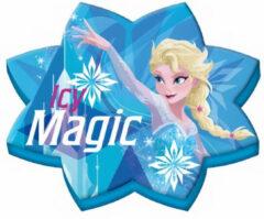 Kids Licensing kussen Frozen ster meisjes 70 cm fluweel blauw