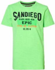 Petrol industries t shirt met printopdruk neon groen