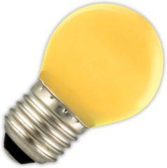 Kogellamp LED geel 1W (vervangt 5W) grote fitting E27