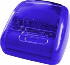 SDI - Paperclip rol-dispenser - 80x90x45mm - Inclusief 100 paperclips! - Blauw - 1 stuk