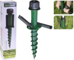 Groene Excellent Houseware Progarden Parasolstandaard Schroefmodel