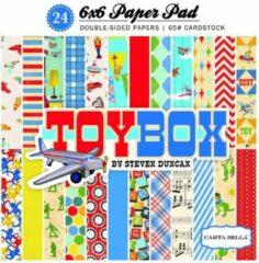"Carta Bella: Toy Box Paper Pad 6x6"" (CBTB66015)"