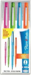 Paper Mate fineliner Flair Original, etui met 4 stuks in geassorteerde fun kleuren