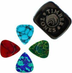 Timber Tones Stone Tones / Mixed Tin / 4 verschillende plectrums