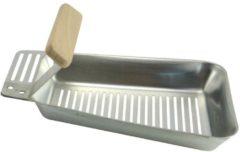 Zwarte Bbq Collection Barbecue Pan roestvrij staal met houten handvat